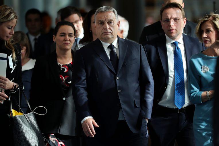 De Hongaarse premier Viktor Orbán is uitgegroeid tot het zwarte schaap van de EU.  Beeld AP