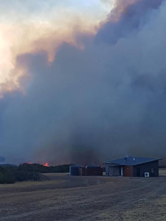Veel rookontwikkeling bij de bosbranden in Australië.