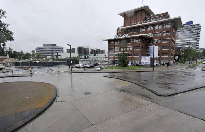 Het gebied tussen ziekenhuis en casino wordt straks het nieuwe Koningsplein. Foto: Frans Nikkels
