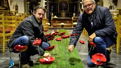 Meer dan 2.000 unieke handgemaakte klaprozen voor herdenking Groote Oorlog