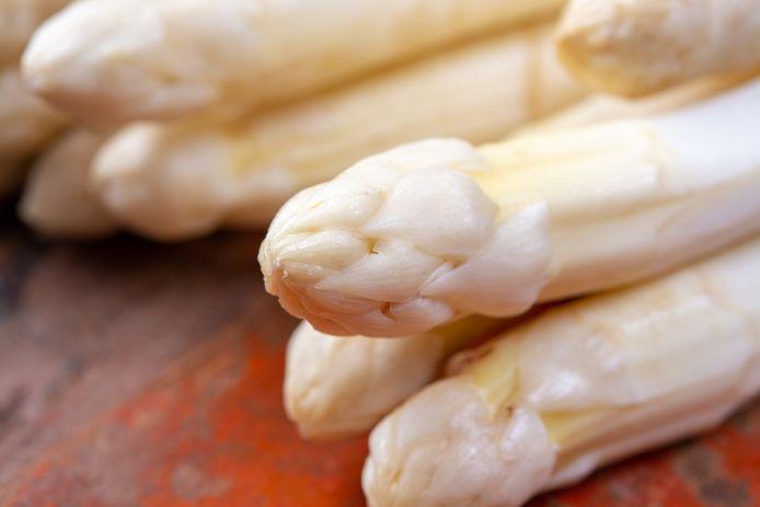 Witte asperges.