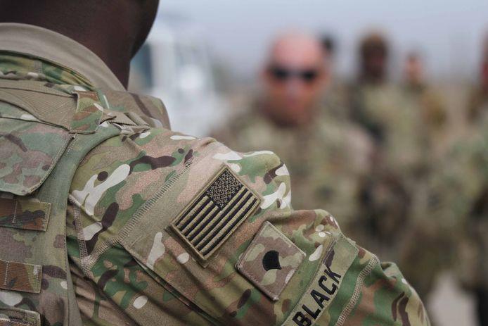 Amerikaanse troepen tijdens een trainingssessie van Afghaanse soldaten in Herat.