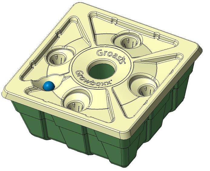 De growbox van Groasis.