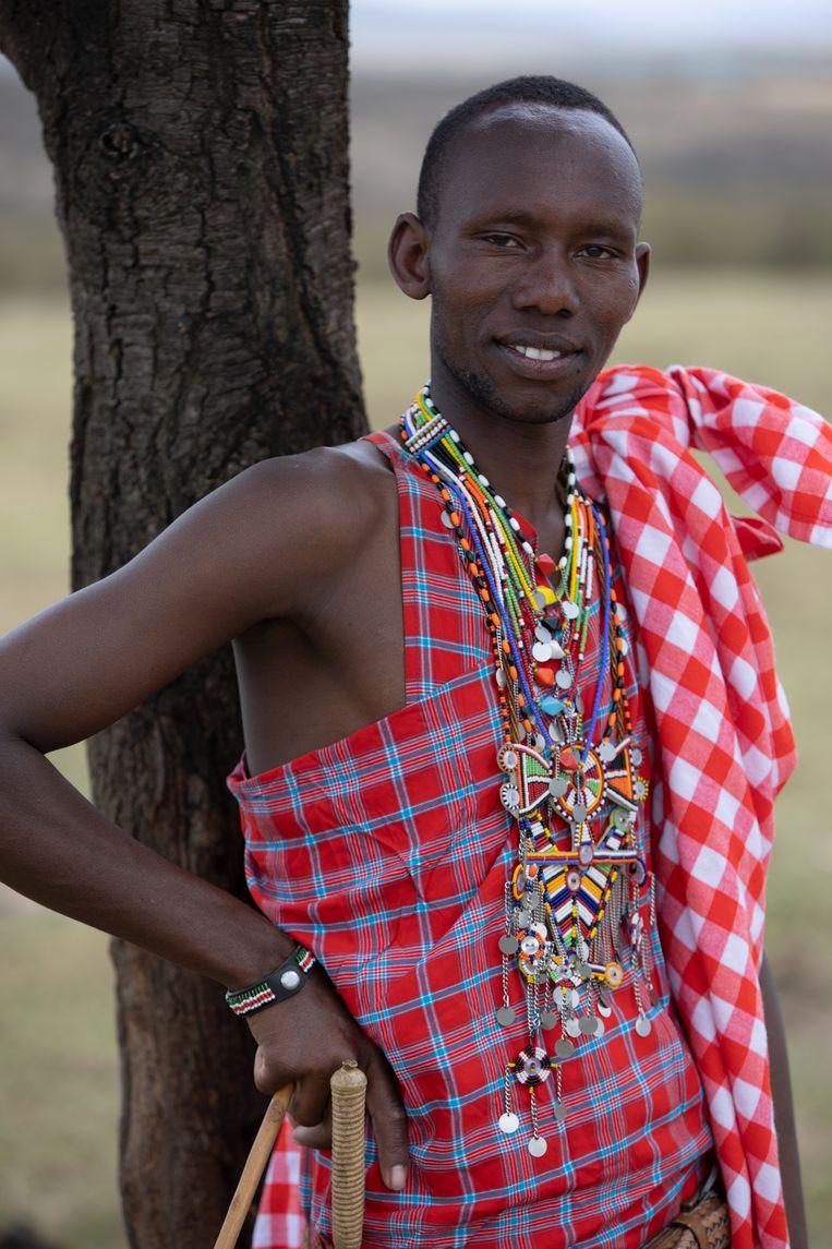 Simintei Nkoingoni: 'Ik mis het slapen buiten, met het vee en onder de sterrenhemel.'  Beeld Karim Kara
