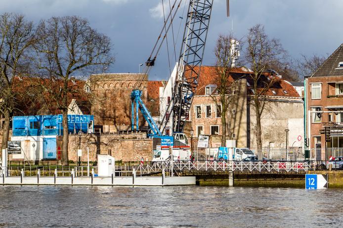 De bouw van filmtheater De Viking aan De Welle in Deventer is al in volle gang.