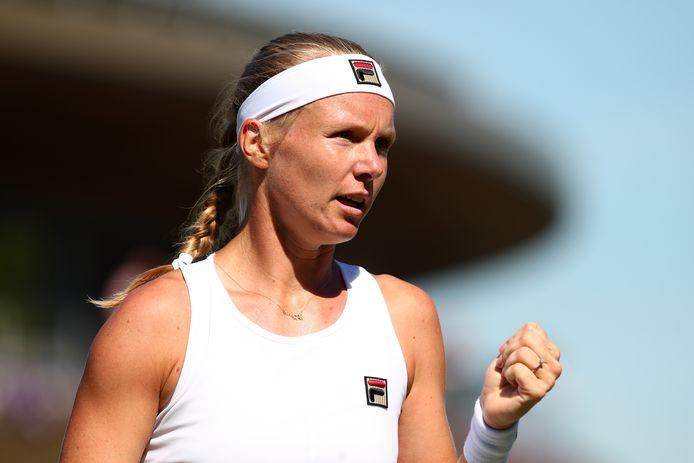 Kiki Bertens op Wimbledon.