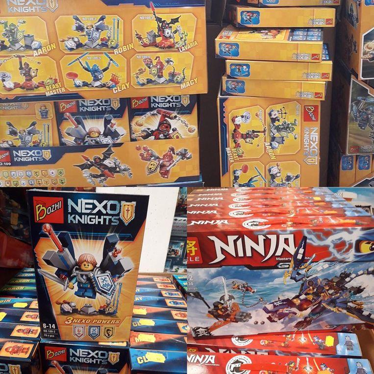 De douane nam 2.600 dozen speelgoed in beslag bij Toys Outlet in Wevelgem.