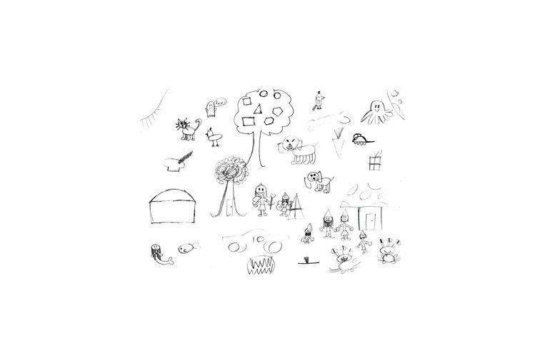 Deze tekening is gemaakt door Annelinde (10 jaar). Op ons verzoek heeft zij haar  visie op ADHD getekend. Beeld RV