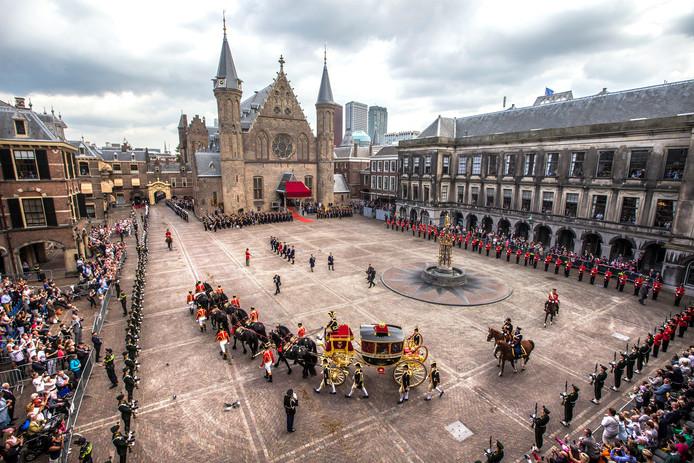 Het Binnenhof tijdens Prinsjesdag.