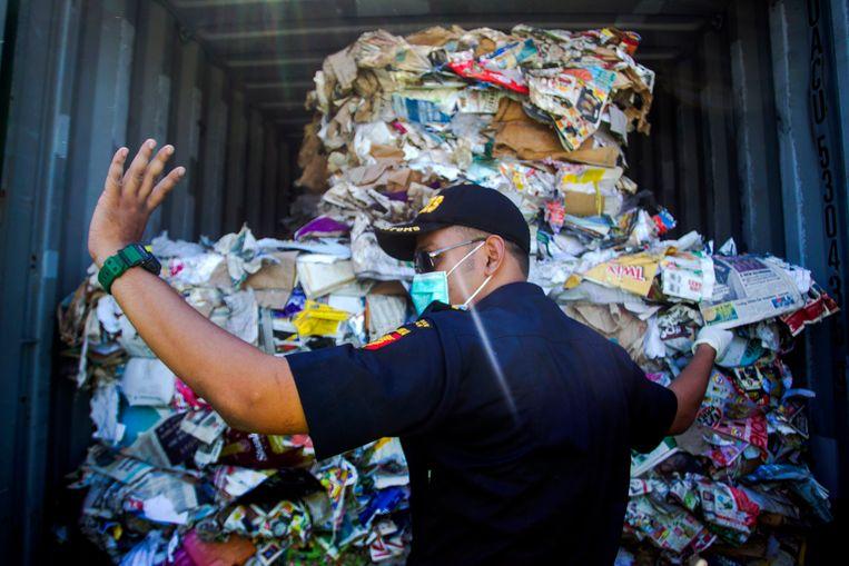 Indonesië stuurt afval terug naar Australië Beeld EPA