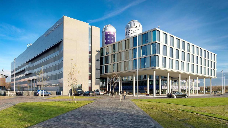 Het gebouw van de Universiteit van Amsterdam op het Science Park.