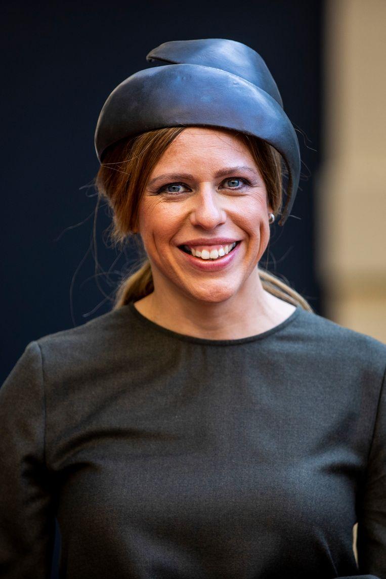 Demissionair minister Carola Schouten van Landbouw, Natuur en Voedselkwaliteit (CU) kiest voor klassiek blauw. Beeld Hollandse Hoogte /  ANP