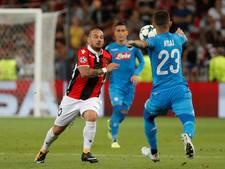 Sneijder schiet met Nice tekort tegen sterk Napoli