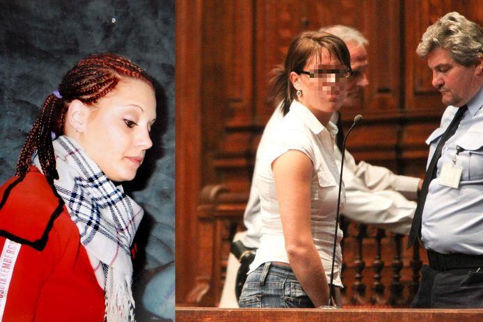Carolien V.L. (rechts) vermoordde Priscilla Vervecken in 2007