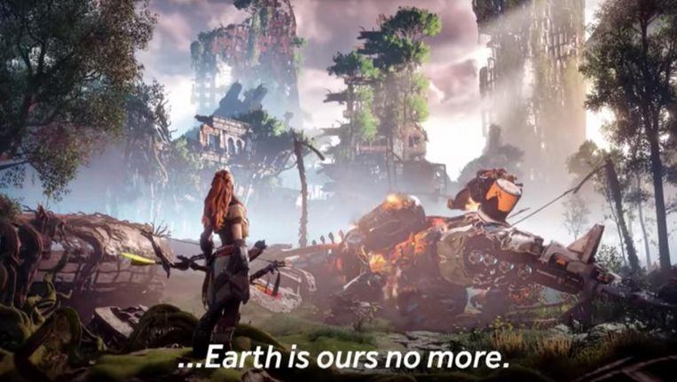 Een still van het spel Horizon Zero Dawn Beeld YouTube