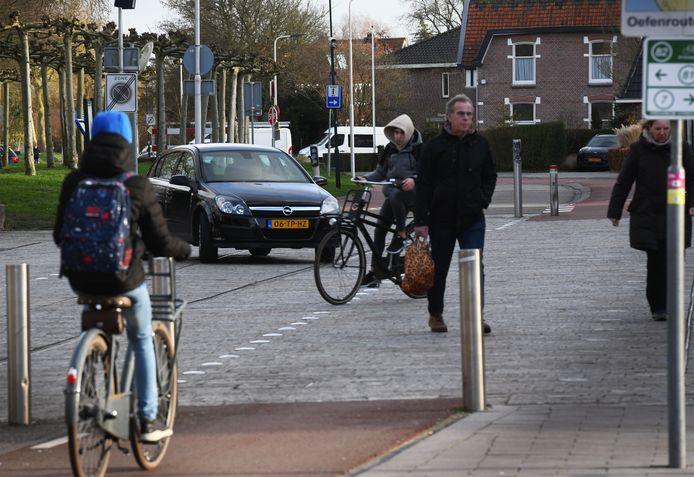 Zinkpalen op de Overtoom in IJsselstein.