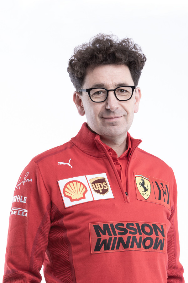 Mattia Binotto, teambaas van het F1-team van Ferrari.