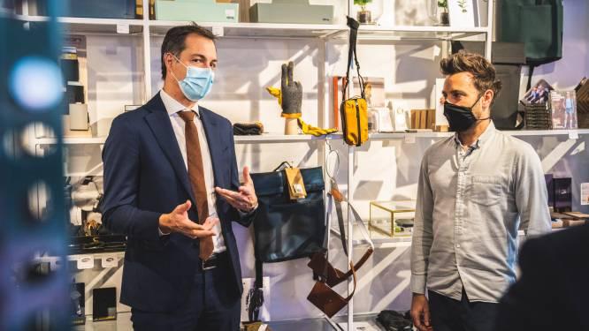 Dag van de Ondernemer: premier De Croo bezoekt Piet Moodshop