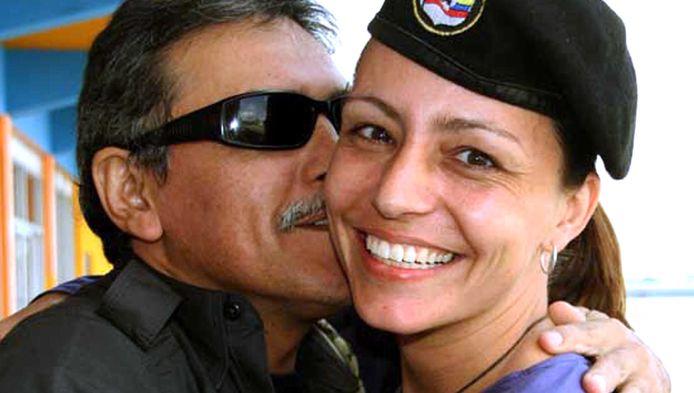 FARC-leider Jeses Santrich en Tanja Nijmeijer