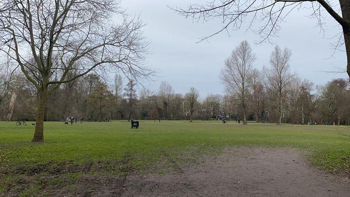 De westkant van het park is nagenoeg leeg.