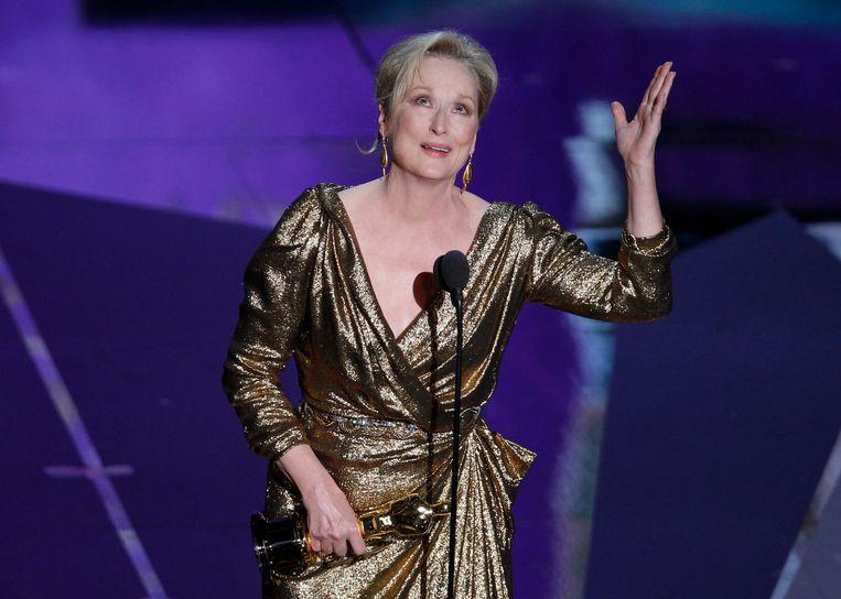 Meryl Streep won in 2012 een Oscar voor haar rol in The Iron Lady. Met 21 nominaties heeft ze de meeste nominaties op haar naam staan. Ze maakt ook dit jaar kans op het befaamde beeldje voor haar rol in The Post.  Beeld REUTERS