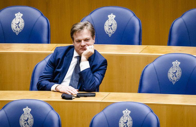Pieter Omtzigt (CDA) tijdens het wekelijks vragenuur in de Tweede Kamer. Beeld ANP