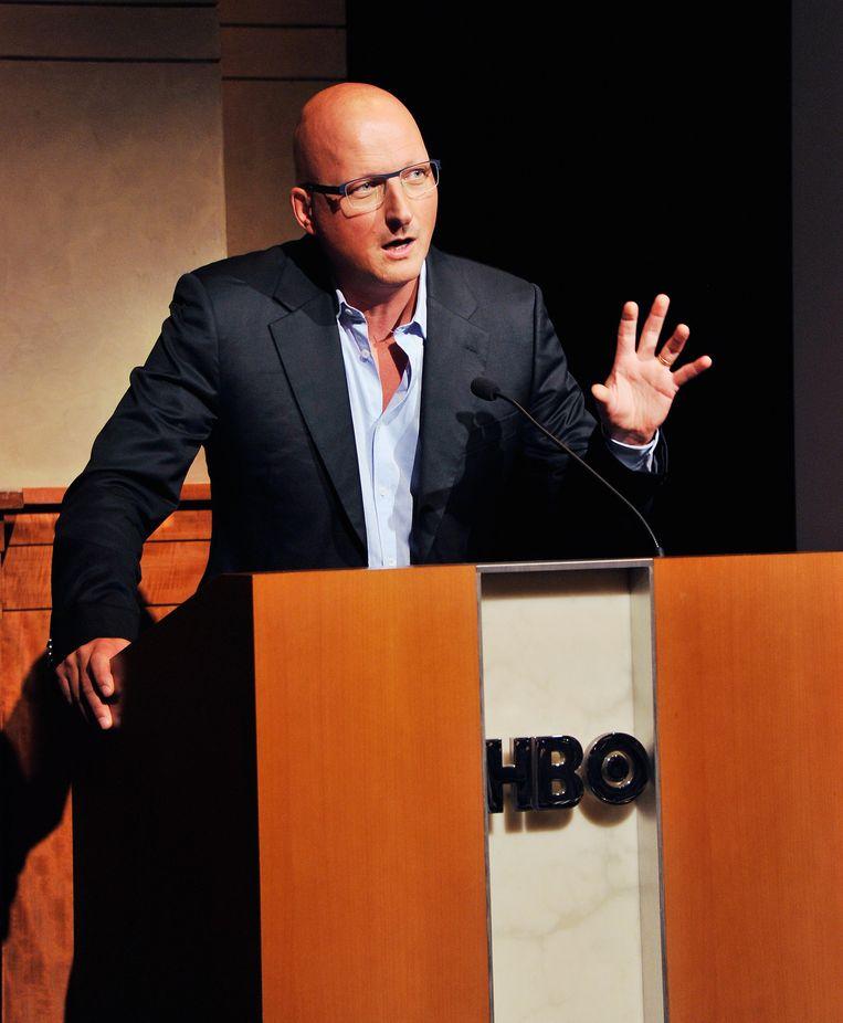 Filmregisseur Dan Reed bij de première van 'Terror at the mall' Beeld getty