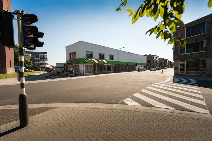 Een beeld uit de oude doos: de gebouwen van de supermarkt werden in 2013 gesloopt