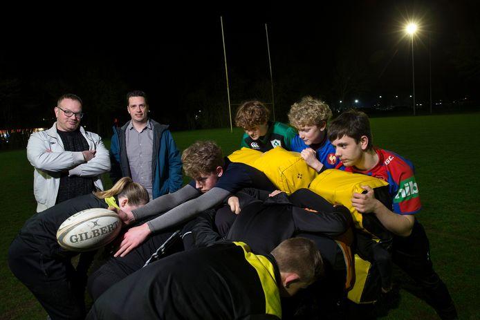 Training bij rugbyclub De Duuvels in Zevenaar. Archieffoto.