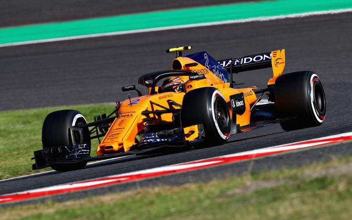 Stoffel Vandoorne tijdens de Grand Prix van Japan deze maand.