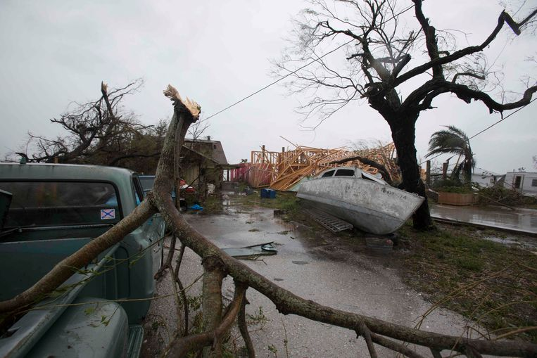 De schade na de doortocht van orkaan Harvey is aanzienlijk Beeld AFP