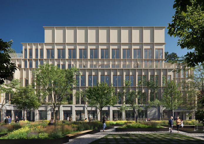 Een simulatiebeeld van het nieuwe Roeselaarse stadhuis