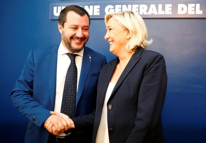 Marine Le Pen et Matteo Salvini sont sur la même longueur d'onde