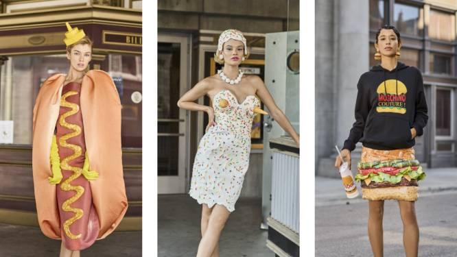 Moschino doet het weer. Loop jij straks rond in een hotdogjurk, hamburgerrok of een ijsjeshoed uit hun nieuwe collectie?