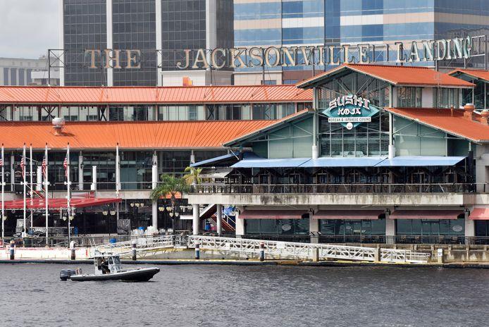 Jackonville Landing in de stad Jacksonville in Florida, waar de St. Johns River, waar het incident gebeurde, langs stroomt.
