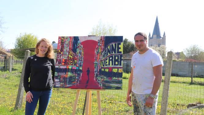 Kunstenaar Michael Peetermans verkoopt uniek schilderij om marathonloopster Hanne Verbruggen in Tokyo te krijgen voor Olympische Spelen