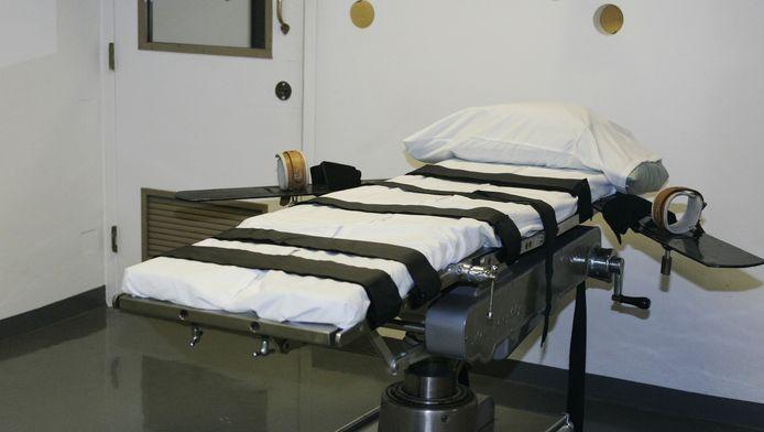 De executiekamer in de gevangenis van Oklahoma.