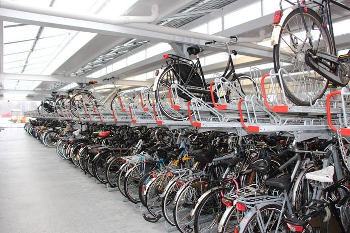 De fietsenkelder.