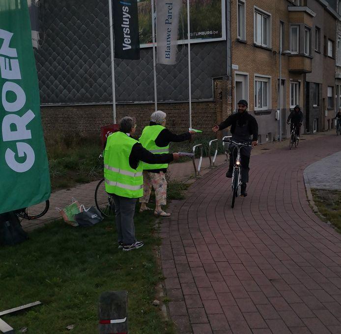 Groen Bredene applaudisseerde voor passerende fietsers.