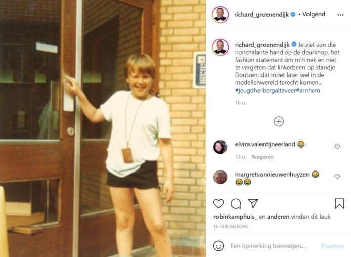 Richard in zijn kindertijd.