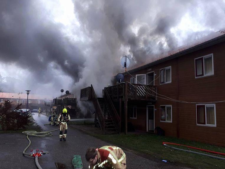 Een groot deel van de gebouwen brandde weg.