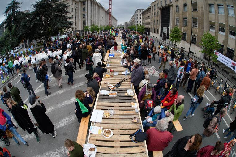 Begin deze maand vond de Hart Boven Hard-manifestatie plaats in Brussel. Die lokte zo'n 10.000 betogers.  Beeld Photo News