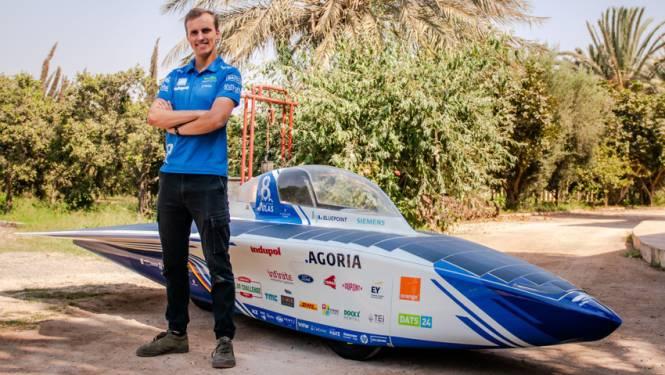 Teamleider Victor (23) uit Edegem moet Belgische zonnewagen als eerste over de meet krijgen in Solar Challenge Morocco