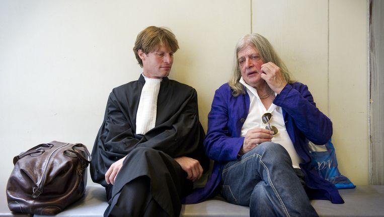 Advocaat Olaf Trojan en Joop Schafthuizen (rechts). © ANP Beeld
