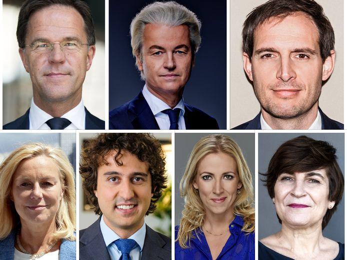 De lijsttrekkers van de zeven grootste partijen gaan met elkaar in debat in het Debat van het Zuiden op 13 maart 2021.
