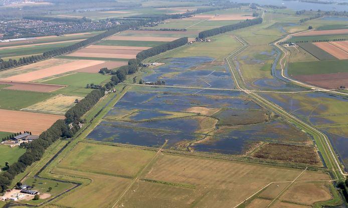 Oktober 2019: de vernatte Noorderdiepzone op het Eiland van Dordrecht.