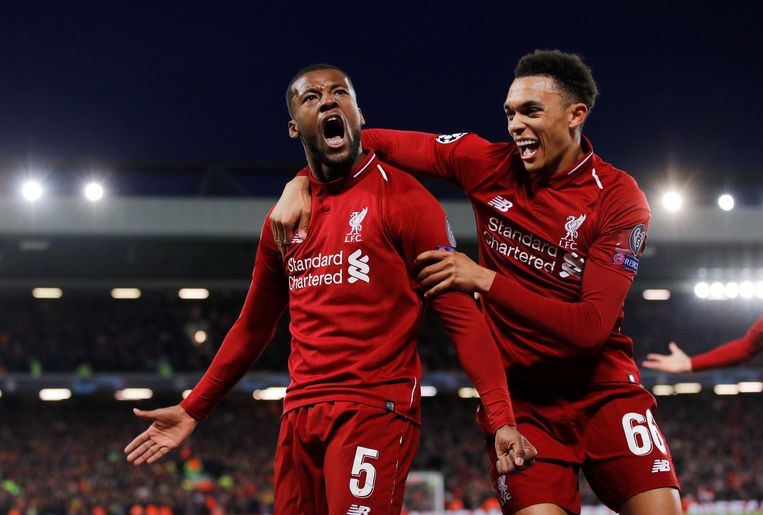 Wijnaldum en Alexander-Arnold waren van goudwaarde voor Liverpool in de halve finale van de Champions League vorig jaar.