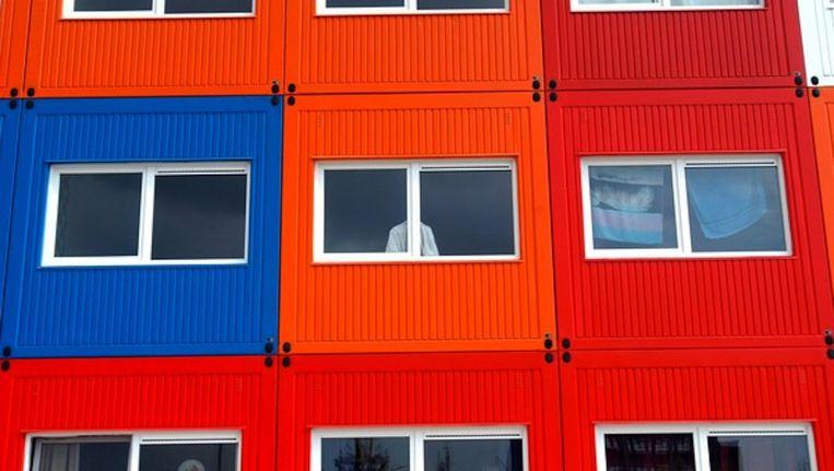 De statushouders zonder onder meer in containerwoningen geplaatst kunnen worden Beeld Evert Elzinga