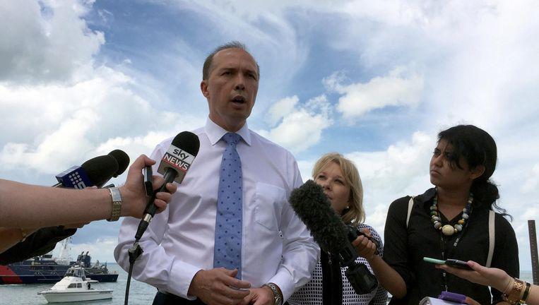 Australisch minister van Immigratie Peter Dutton Beeld EPA