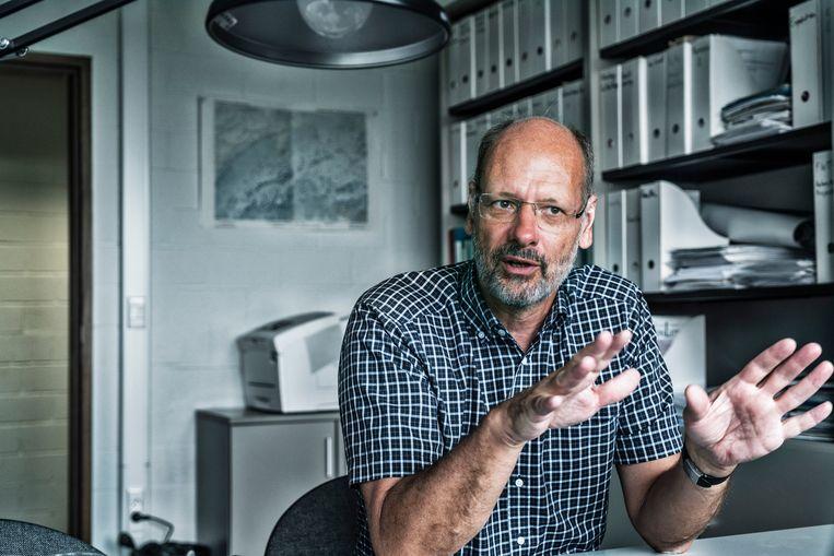 Klimaatwetenschapper Philippe Huybrechts: 'De zeespiegelstijging gaat nu dubbel zo hard als in de twintigste eeuw.' Beeld Tim Dirven